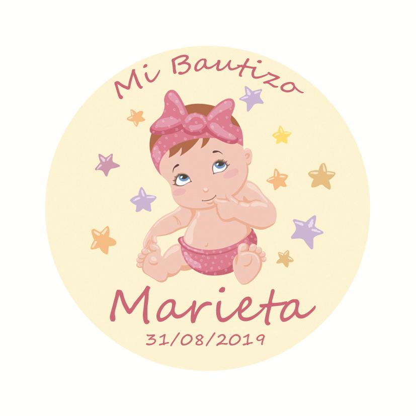 CHAPA BAUTIZO Mod. Marieta