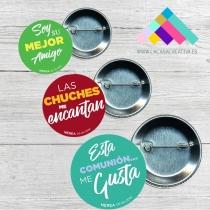 PACKS DE 25 CHAPAS  FRASES DIVERTIDAS COMUNIÓN
